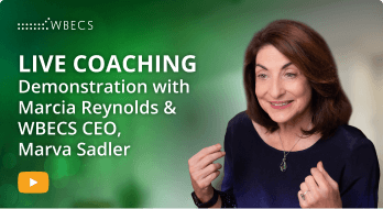 World Business & Executive Coach Summit - wbecs21 leads Marcia-Reynolds